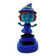 Bruxa Azul Solar Para Painel De Carro Boneco Solar 10 Cm