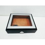 - Caixa Para 12 Un Charuto Madeira Importada 8x21x22cm Vg12525
