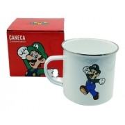 - Caneca Aluminio Luigi Super Mario Bros Zona Criativa 500ml