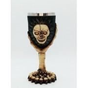 Caneca Caveira Cranio Resina Coleção Calice Guerra Taça