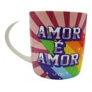 Caneca Ceramica Amor É Amor Diversidade 390ml