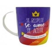 Caneca Ceramica Celebre O Amor Diversidade 390ml Se Ame