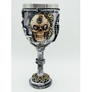 - Caneca Cranio Ciborg Resina Coleção Calice Guerra Taça