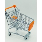 - Carrinho Supermercado 14cm Organizador Mesa Porta Canetas
