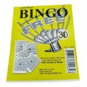Conjunto Cartelas 15 Blocos Jogo Bingo 1500 Folhas 10cm Am