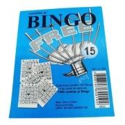 - Conjunto Cartelas 15 Blocos Jogo Bingo 1500 Folhas 10cm Az