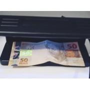 Detector De Notas Falsas Testa Dinheiro Cheque Selos Luz Uv