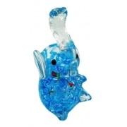 - Enfeite Elefante Vidro Decoração 12cm Murano Azul