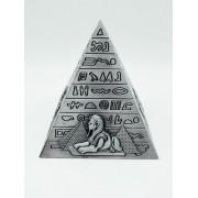 - Enfeite Estátua Pirâmide Egito Decoração Escultura Prata