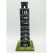 - Enfeite Miniatura Torre De Pisa Decoração Metal 19cm