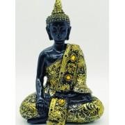 - Enfeite Resina Buda Sentado Estátua 16cm Decoração Oriental