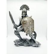 - Enfeite Resina Cavaleiro Templário Armadura Cruzadas Ws1932