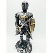 Enfeite Resina Cavaleiro Templário Espada Cruzadas Ws1919