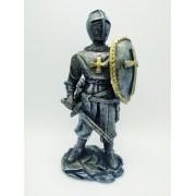 Enfeite Resina Cavaleiro Templário Guarda Cruzadas Ws1921