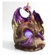 - Enfeite Resina Dragão Caveira Cranio 20cm Decoração