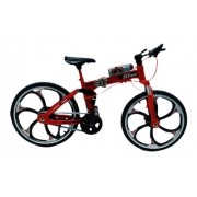 Miniatura Bicicleta Moutain Bike Mini Vermelha Crazy Aero