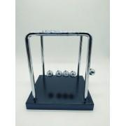 - Pêndulo De Newton Luxo 15cm Base Madeira Decoração