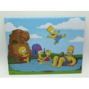 Placa Metal Os Simpsons Familia Simpson Lago 26x20cm