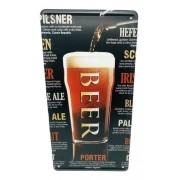 Placa Metal Vintage 31x17 Cerveja Beer Chopp Pilsen