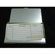 Porta Cartão De Visitas Inox