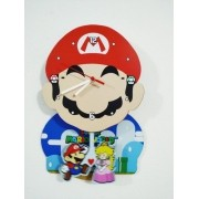 - Relógio De Parede Mario Bros Princesa Video Game Mdf