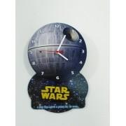 - Relógio De Parede Star Wars Estrela Da Morte Mdf Guerra