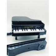 - Telefone Piano Classico Retro Vintage Preto