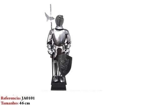 Mini Armadura Medieval 46cm Cavaleiro Templario Machado  - Presente Presente