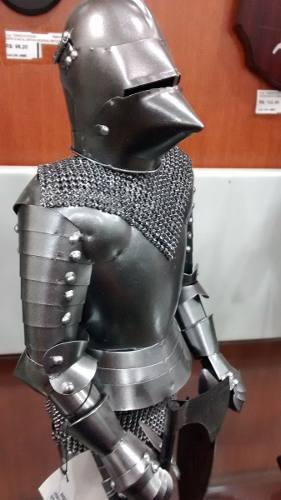 Mini Armadura Medieval 48cm Cavaleiro Templario Cruzadas  - Presente Presente