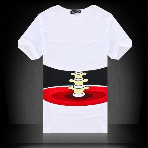 Camiseta Coluna Esqueleto Ossada Tam. M Slim Fit  - Presente Presente
