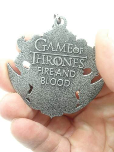 Chaveiro Game Of Thrones Escudo Targaryen Fire And Blood  - Presente Presente