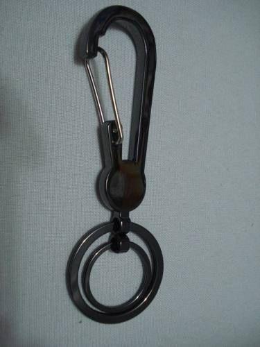 Chaveiro Inox Mosquetão Argola Dupla  - Presente Presente