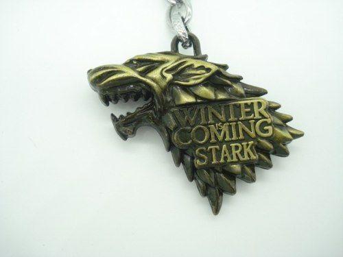 Chaveiro Game Of Thrones Brasão Casa Stark Winter Is Coming  - Presente Presente