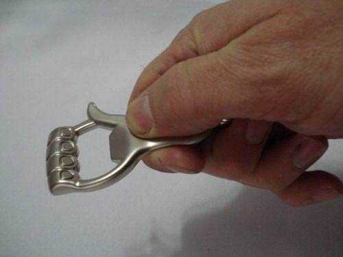 Kit Chaveiro Mão Abridor Garrafa E Ursinho Art. Aço Inox  - Presente Presente