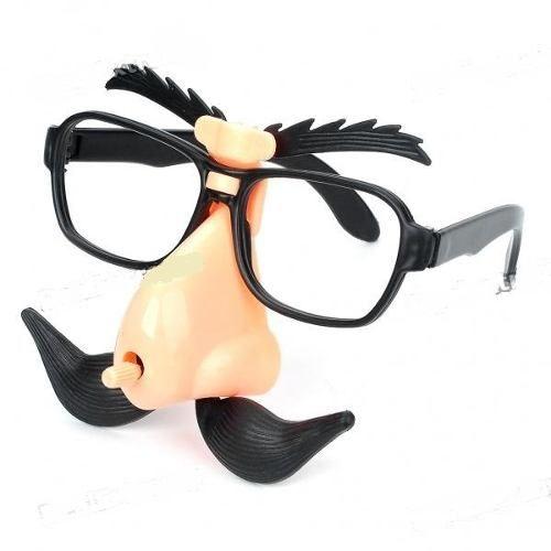Óculos Com Bigode Nariz E Sobrancelha Briquendo Articulado  - Presente Presente