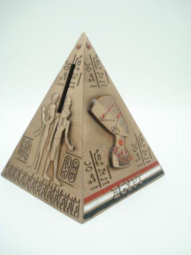 Cofre Pirâmide Egito Metal Decoração Cobre Enfeite Coleção  - Presente Presente