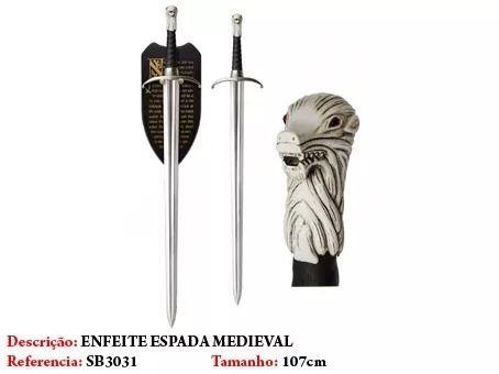 Espada Jon Snow Game Of Thrones Garra Longa Longclaw  - Presente Presente