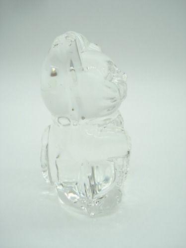 Enfeite Gato Da Sorte Miniatura Vidro Coleção Decoração 7cm  - Presente Presente