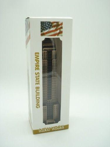 Enfeite Miniatura Empire State Building Ny Metal Luxo Bronze  - Presente Presente