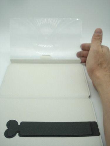 Lupa Lente Aumento Leitura 18x12cm Flexivel Estojo E Suporte  - Presente Presente
