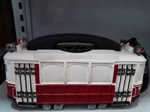 Telefone De Mesa Bonde Vagão De Trem Retro Vintage  - Presente Presente