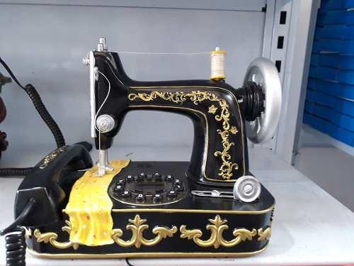 Telefone De Mesa Maquina De Costura Retro Vintage  - Presente Presente