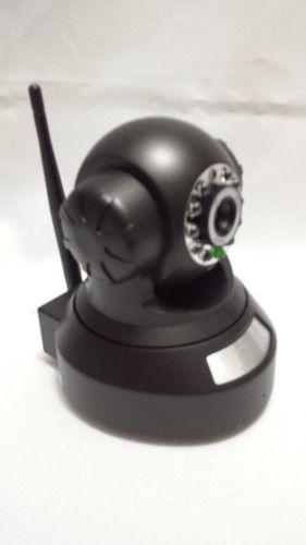 Câmera Ip Dvr Sem Fio Wifi Alarme Gravador Rj45 Preta  - Presente Presente