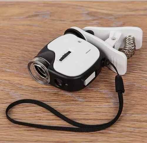 Microscopio Para Celular Camera 55x Universal Com Led E Uv  - Presente Presente