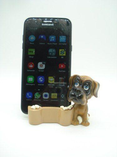 Enfeite Resina Cachorro Porta Celular 11cm Decoração Xce3583  - Presente Presente