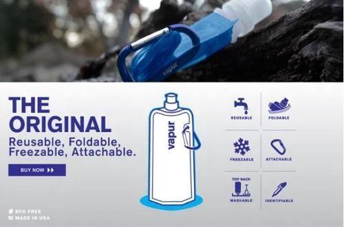 Garrafa De Água Squeeze Dobrável, Flexível E Reutilizável  - PRESENTEPRESENTE