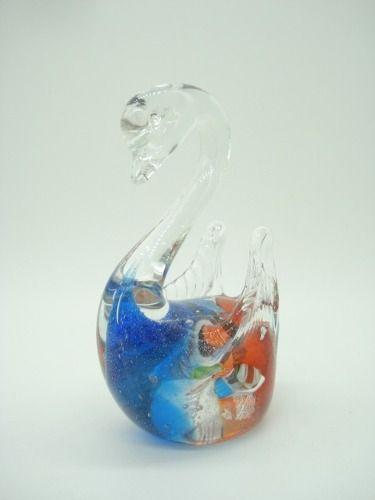 Enfeite Cisne Vidro Decoração 10x8cm Murano  - Presente Presente