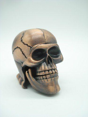 Apontador Cranio Caveira Retro Coleção Metal Die Cast  - Presente Presente