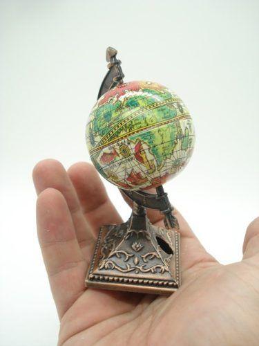 Apontador Globo Terrestre Mapa Mundi Coleção Die Cast 9614  - Presente Presente