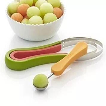 Cortador Decorador De Frutas Pratico C/ Colher Para Bolinhas  - Presente Presente